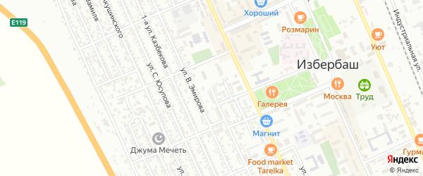 Улица Чернышевского на карте Избербаша с номерами домов