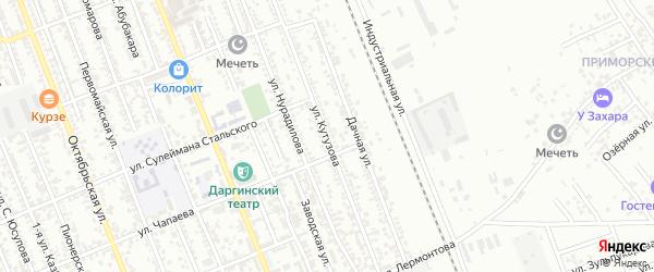 Улица Кутузова на карте Избербаша с номерами домов