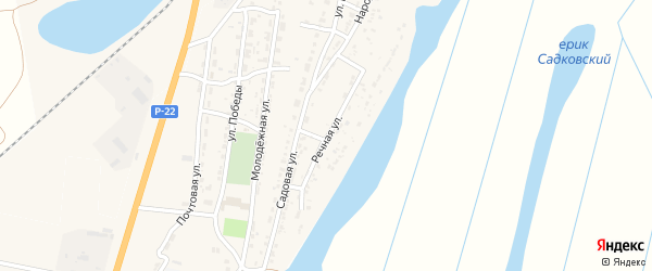 Речная улица на карте Волжского села с номерами домов
