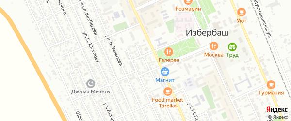 Пролетарская улица на карте Избербаша с номерами домов