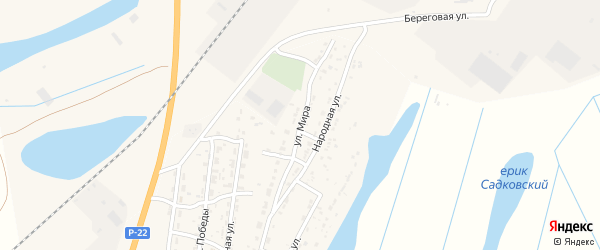 Улица Мира на карте Волжского села с номерами домов