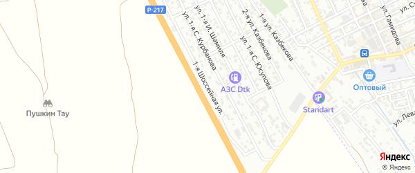 1-я Шоссейная улица на карте Избербаша с номерами домов