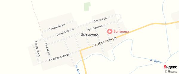Карта села Янтиково в Чувашии с улицами и номерами домов