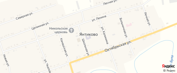 Улица Ленина на карте села Янтиково с номерами домов