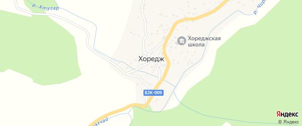Улица Гаджикент на карте села Хореджа с номерами домов