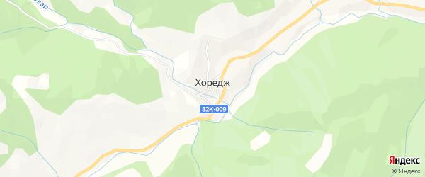 Карта села Хореджа в Дагестане с улицами и номерами домов