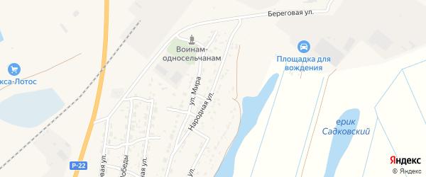 Народная улица на карте Волжского села с номерами домов