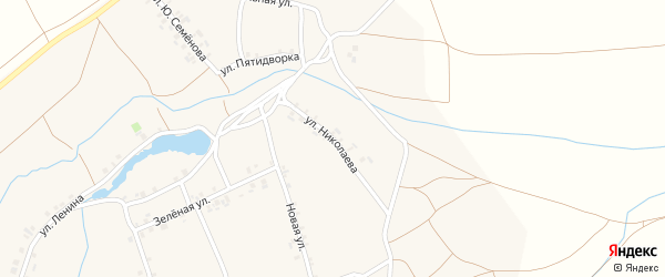 Улица Николаева на карте деревни Шихабылово с номерами домов