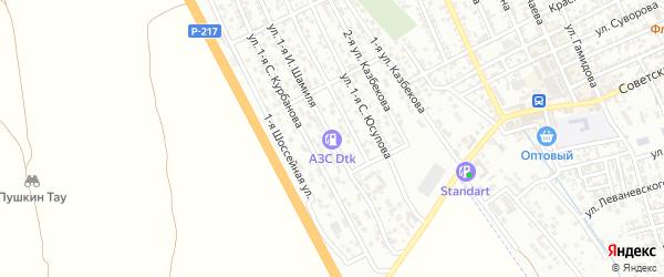 Улица 1-я И.Шамиля на карте Избербаша с номерами домов
