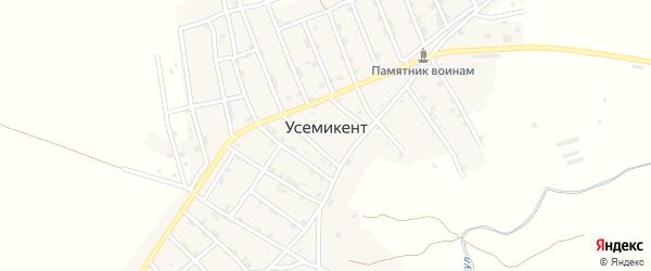Улица Братьев Исаевых на карте села Усемикента с номерами домов