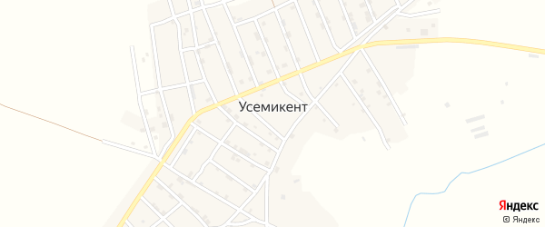 Улица Ирчи Казака на карте села Усемикента с номерами домов