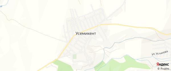 Карта села Усемикента в Дагестане с улицами и номерами домов