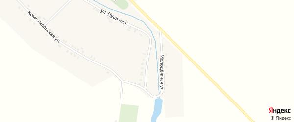 Молодежная улица на карте деревни Кошки-Куликеево с номерами домов