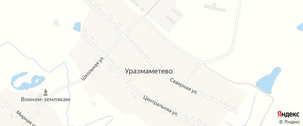 Северная улица на карте деревни Уразмаметево с номерами домов