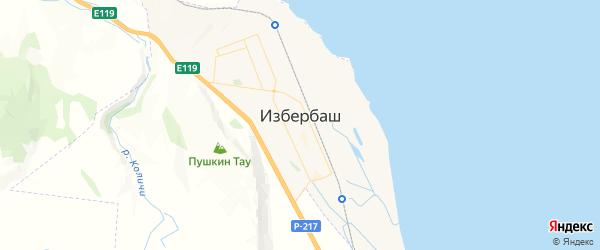 Карта Избербаша с районами, улицами и номерами домов: Избербаш на карте России