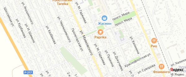 Улица М.Гаджиева на карте Избербаша с номерами домов