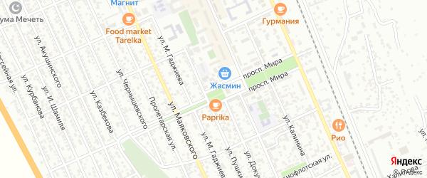 Проспект Мира на карте Избербаша с номерами домов