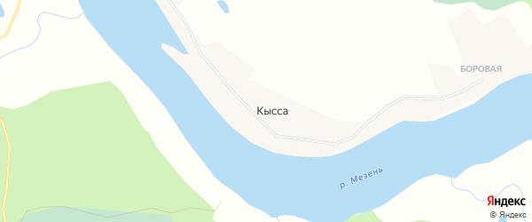 Карта деревни Кыссы в Архангельской области с улицами и номерами домов