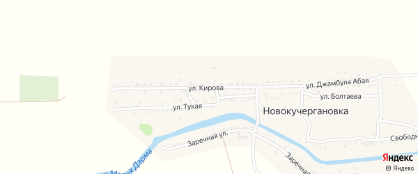 Улица Кирова на карте села Новокучергановка с номерами домов