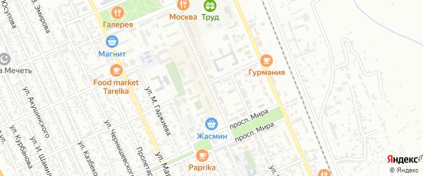 Улица Г.Гамидова на карте Избербаша с номерами домов