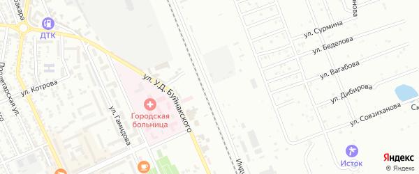 Улица 1-я Индустриальна на карте Избербаша с номерами домов
