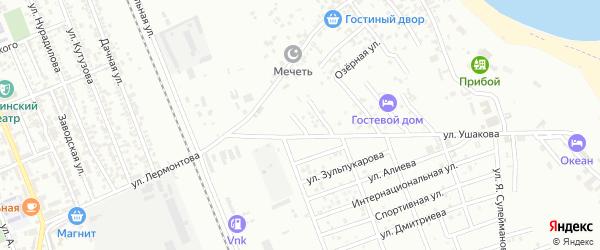 Улица Белоусова на карте Избербаша с номерами домов