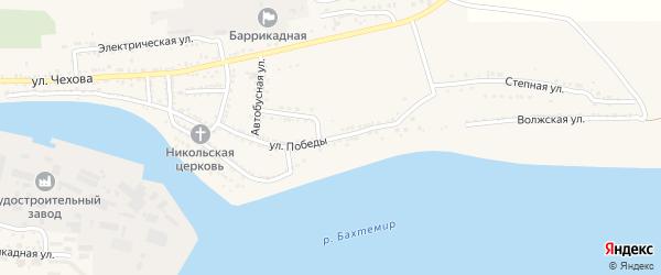 Улица Победы на карте поселка Красные Баррикады с номерами домов