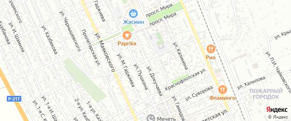 Улица Мичурина на карте Избербаша с номерами домов