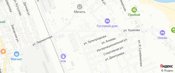Улица Гоева на карте Избербаша с номерами домов