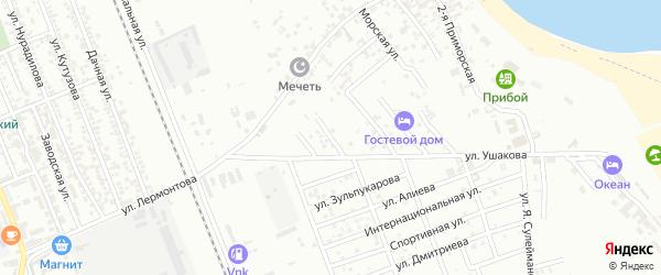 Звездная улица на карте Избербаша с номерами домов