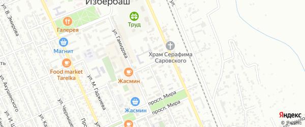 Улица Г.Гусейханова на карте Избербаша с номерами домов