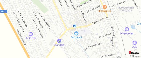 Советская улица на карте Избербаша с номерами домов
