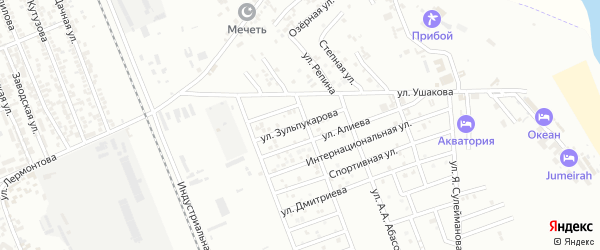 Улица Зульпукарова Магомед-Герея на карте Избербаша с номерами домов