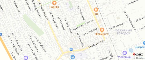 Краснофлотская улица на карте Избербаша с номерами домов