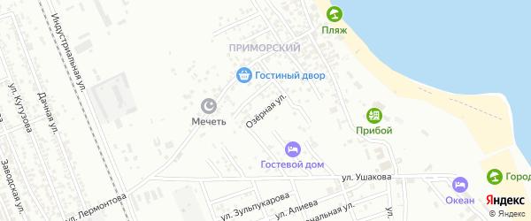 Озерная улица на карте Избербаша с номерами домов