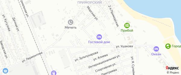 Улица Репина на карте Избербаша с номерами домов