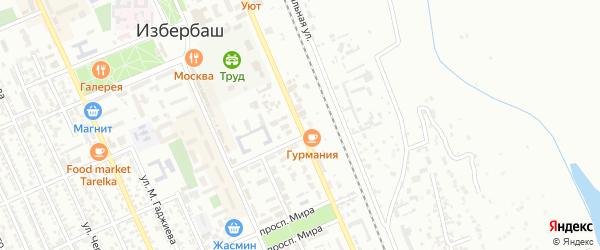 Улица Буйнакского на карте Избербаша с номерами домов
