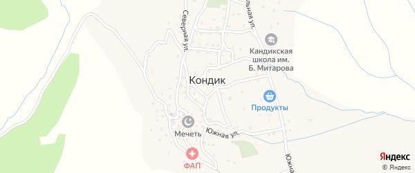 Школьная улица на карте села Кандыка с номерами домов