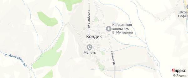 Карта села Кандыка в Дагестане с улицами и номерами домов