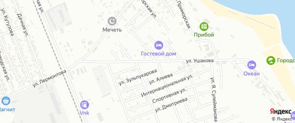 Улица Ф.Ушакова на карте Избербаша с номерами домов
