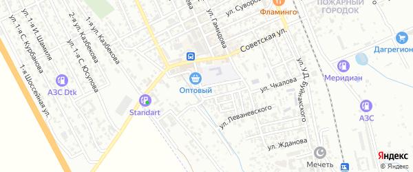 Улица Громова на карте Избербаша с номерами домов