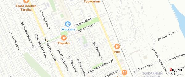 Улица Калинина на карте Избербаша с номерами домов