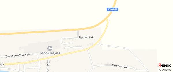 Луговая улица на карте поселка Красные Баррикады с номерами домов
