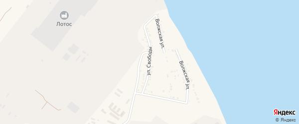 Улица Свободы на карте Волжского села с номерами домов
