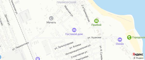 Степная улица на карте Избербаша с номерами домов