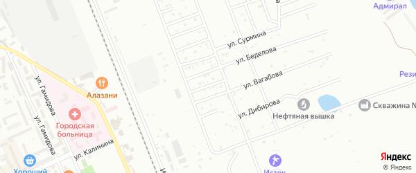 Улица Джабраилова на карте Избербаша с номерами домов