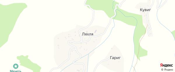 Улица Ветеранов на карте села Ляхли с номерами домов