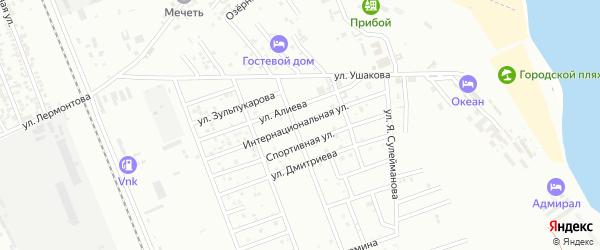 Интернациональная улица на карте Избербаша с номерами домов
