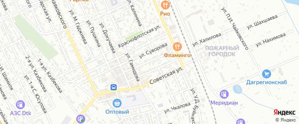 Улица Кирова на карте Избербаша с номерами домов