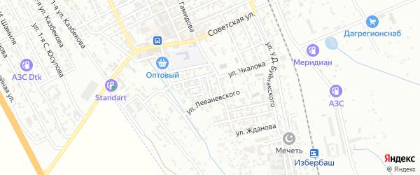 Улица Леваневского на карте Избербаша с номерами домов